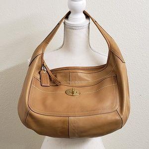 COACH - Ergo Tan Leather Hobo Handbag